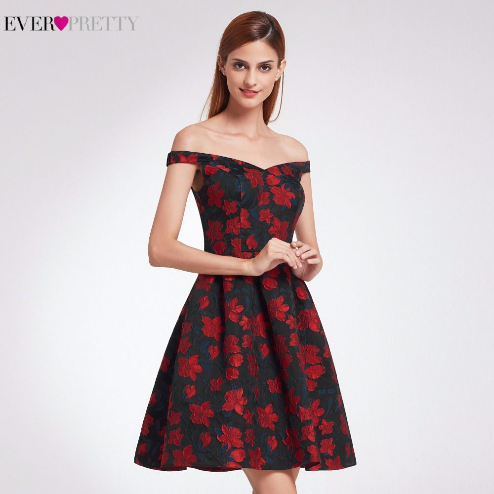 50edaa18a55f1 Retro Off Shoulder Fit Cocktail EP05947 Dresses Womens Flare Party ...