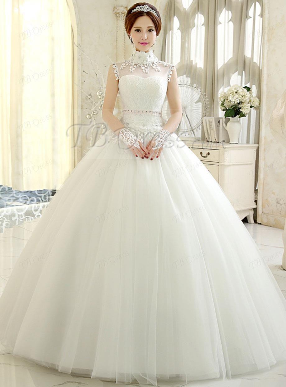 Korean ballgown wedding dress bridal pinterest moda en ropa