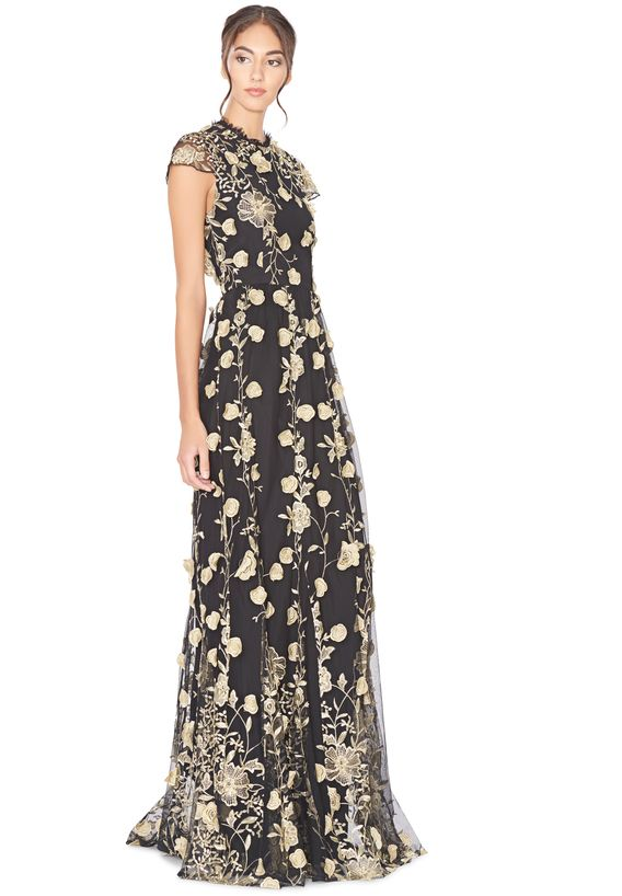 Shop the AALIYAH OPEN BACK GOWN from Alice + Olivia. | Covetted ...