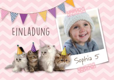 Süße Einladungskarte Für Mädchen Zum 5 Geburtstag Mit Foto Vom