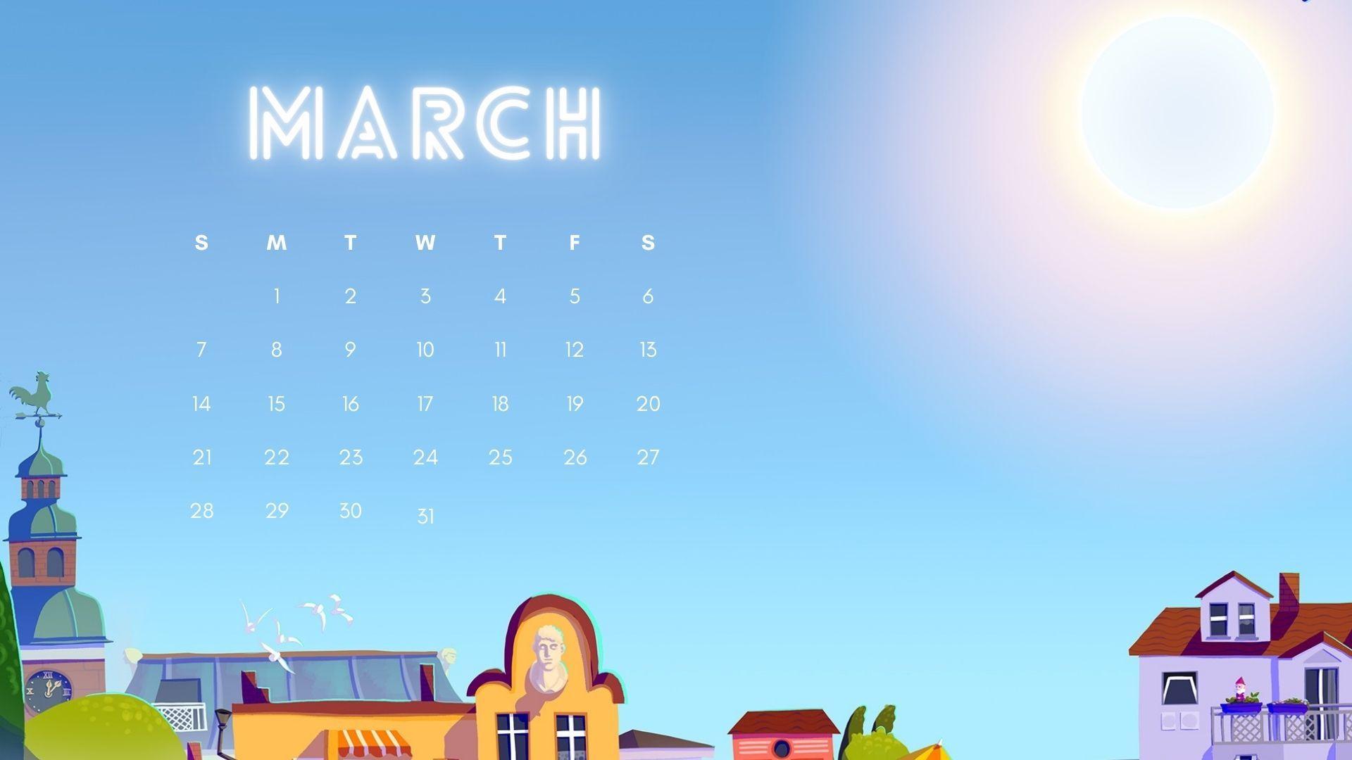 March 2021 Wallpaper Calendar