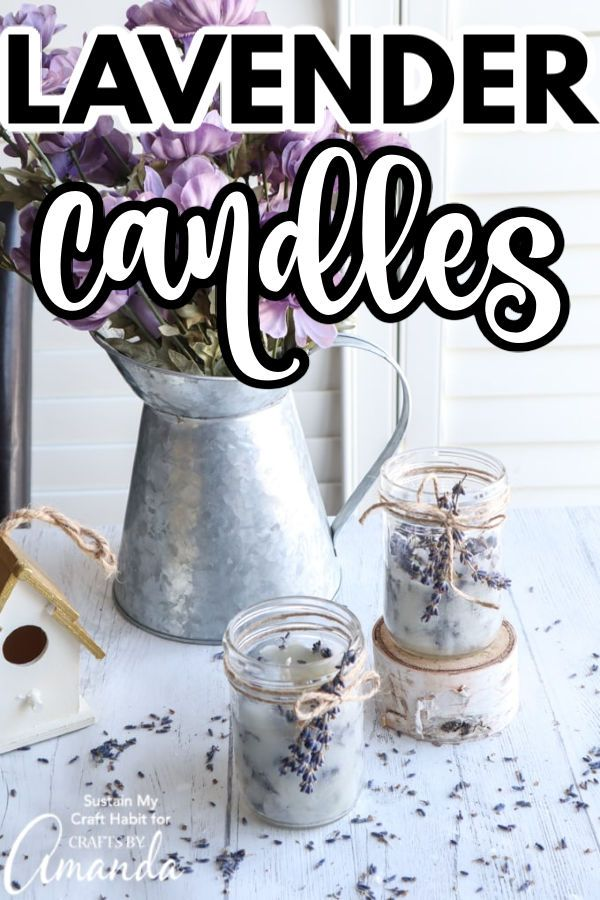 Lavender Candles in 2020 | Lavender candle, Food stamps ...