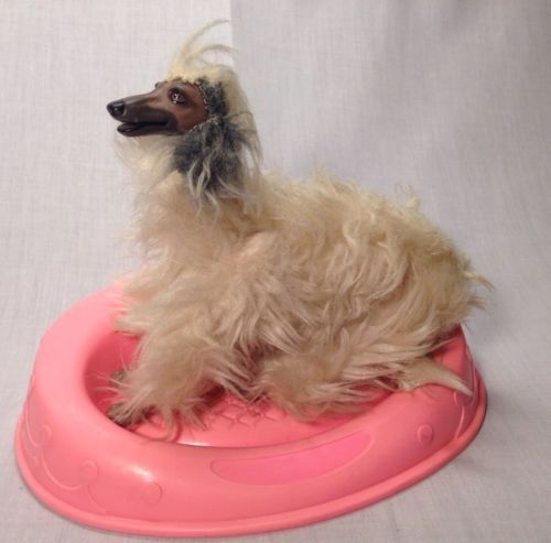 """Vintage barbie, #1970's, #1980's, #""""beauty"""" the afghan dog with bed., View more on the LINK: http://www.zeppy.io/product/gb/2/141883377994/"""