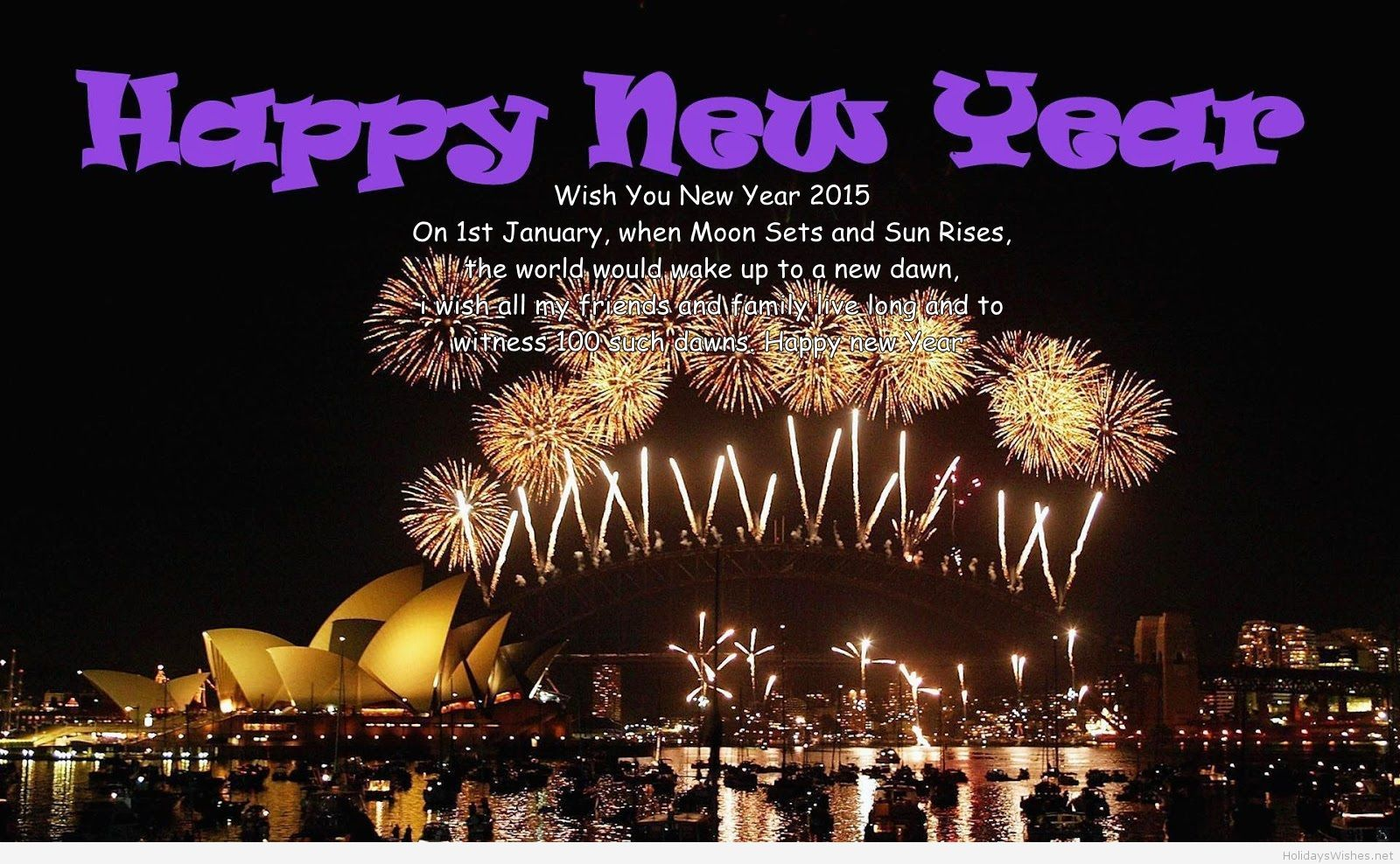 Happy New Year Greetings With Fireworks And Sayings Christmas