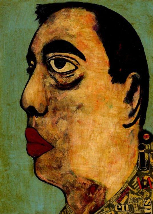 26-RETRATOS Expresionistas. El jugador. http://www.artmajeur.com/es/artist/carmenluna/collection/retratos-expresionistas/1475242