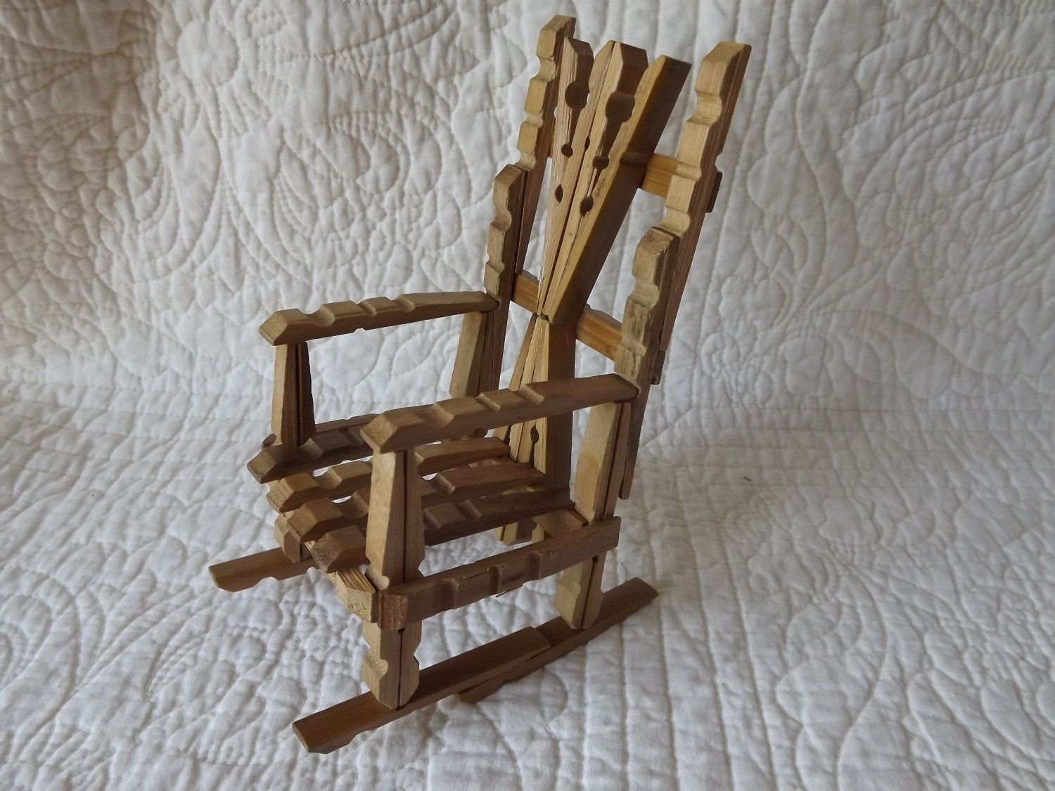 Phenomenal Miniature Wood Chair Made Out Of Clothespins By Squirreltailoven Fun Painted Chair Ideas Images Squirreltailovenorg