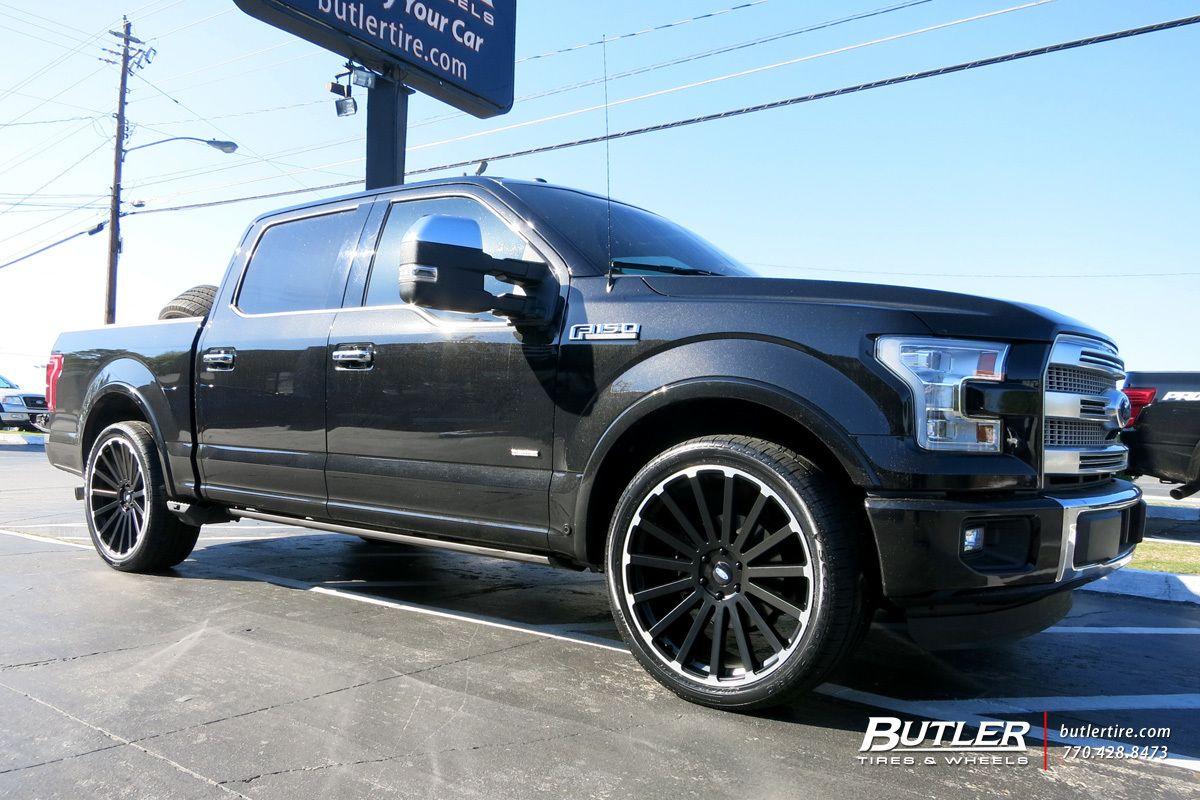Ford f150 with 24in black rhino spear wheels