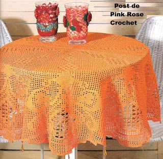 PINK ROSE CROCHET: Toalha de Mesa