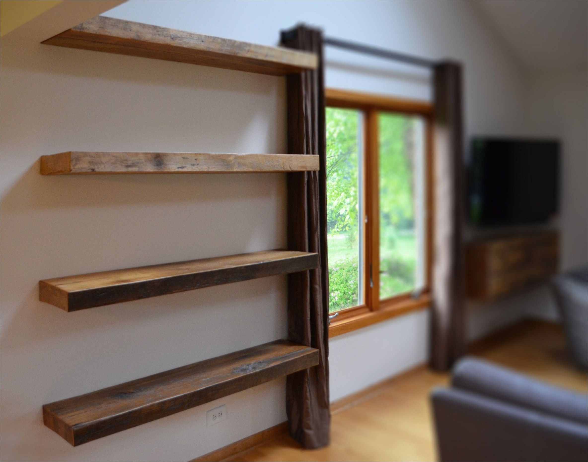 45 Creative Rustic Wall Mounted Bookshelves 84 Rustic Floating Shelves