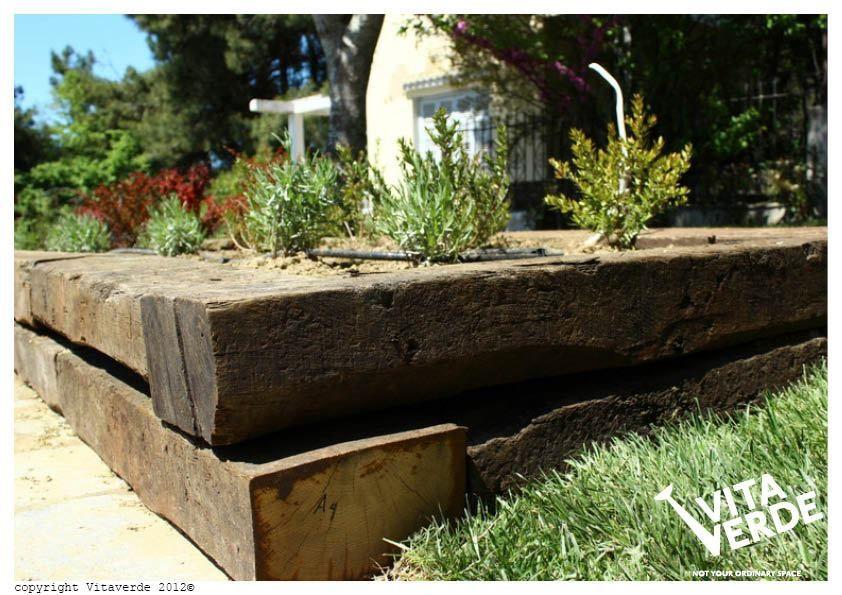 Railway Sleepers Garden Design Ideas Pictures Remodel And Decor Garden Seating Area Garden Design Sleepers In Garden
