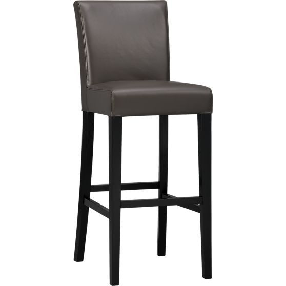 Lowe Smoke Leather Bar Stools Crate And Barrel With Images