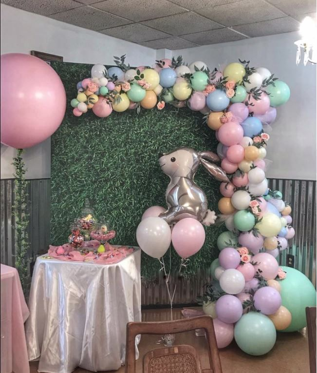 Spring Bunny Gnome Balloons Easter Party Supplies and Decorations Spring Easter Birthday Party Decorations 40Pcs Easter Balloons Happy Easter Hello Spring Party Decorations