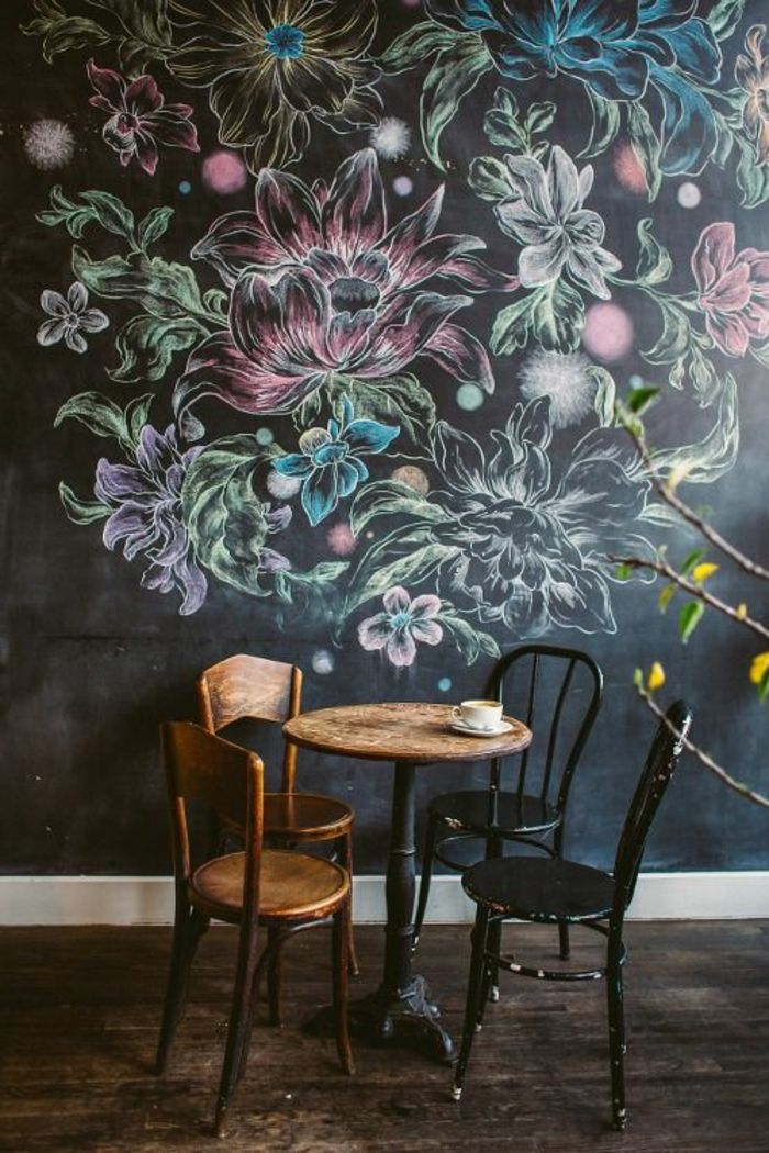 Kreative wandgestaltung sorgt f r gro artige erscheinung im raum tapeten w nde bilder - Wandmalerei wohnzimmer ...