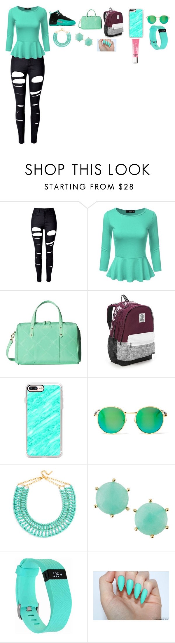 """Untitled #147"" by keshalove-1 ❤ liked on Polyvore featuring WithChic, Vera Bradley, Victoria's Secret, Casetify, Wildfox, BaubleBar, Panacea, Fitbit and Beauty Rush"