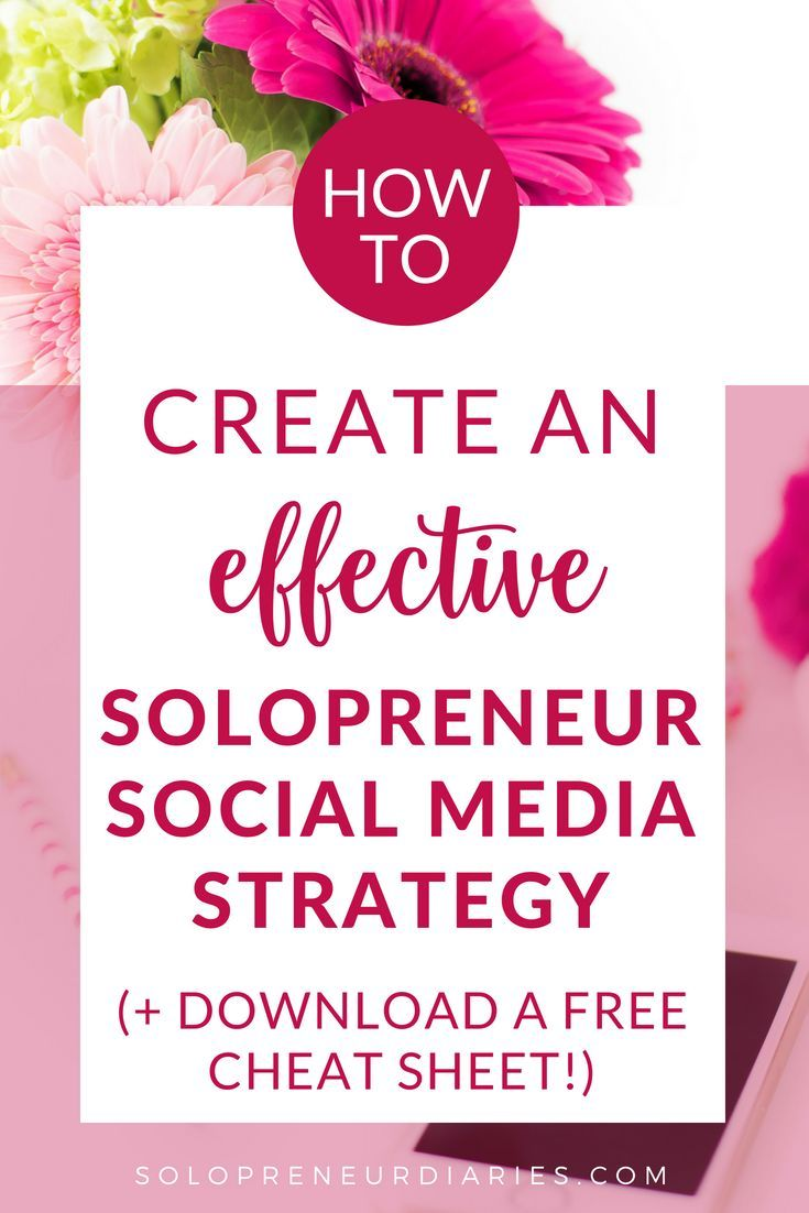 SEO Marketing Cheat Sheets Create an Effective Solopreneur Social Media Strategy
