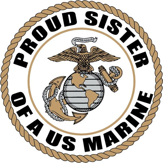 Proud Sister Of A Us Marine Corps Soldier By Fivestarstickers 5 00