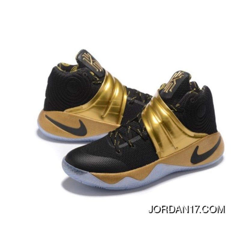 4c081bab704 Nike Kyrie 2 PE Black Gold Mens Basketball Shoe Kyrie Irving Finals Shoes