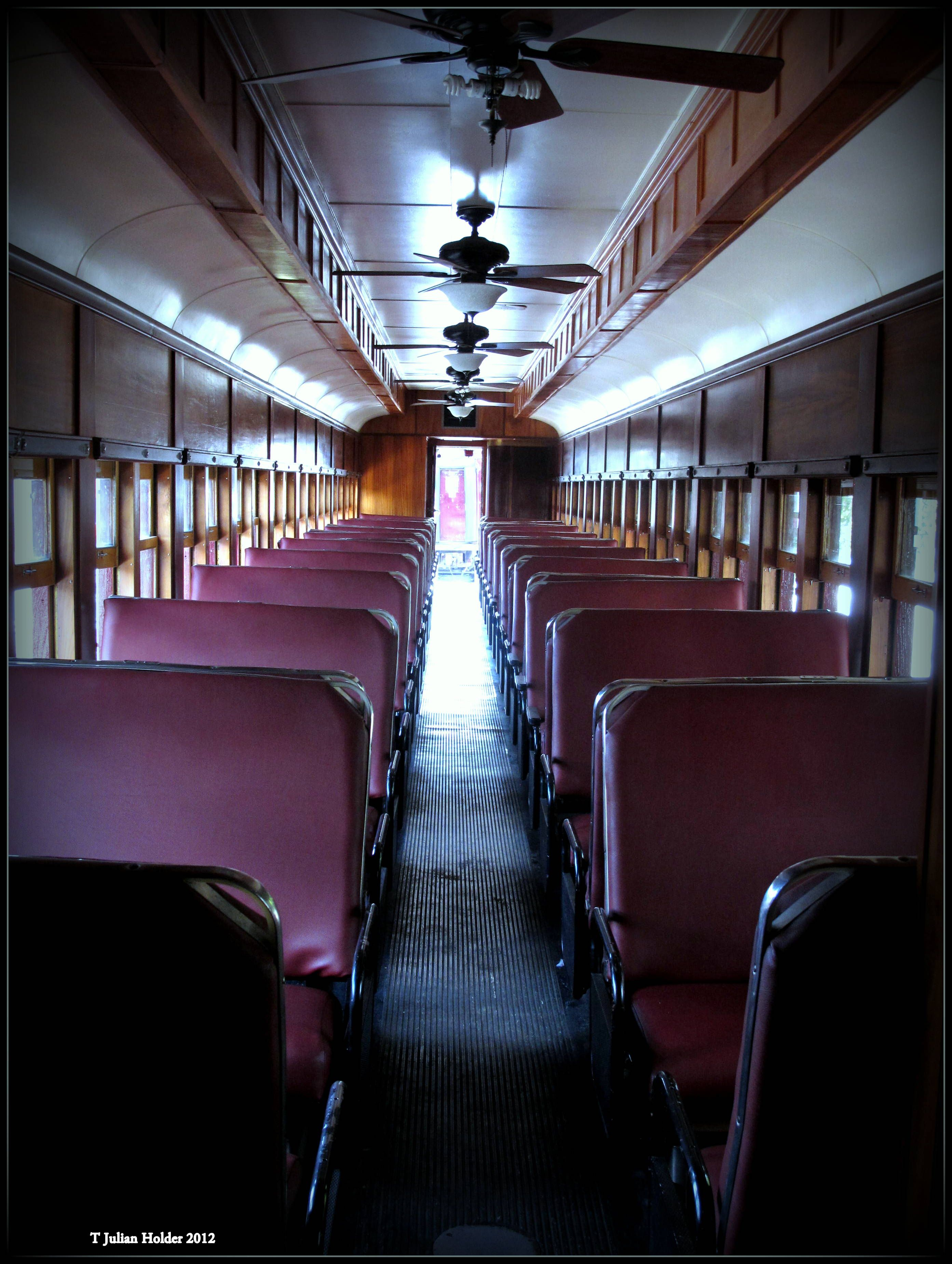 Inside Old Passenger Train Bryson City NC Photo by Taylor ...