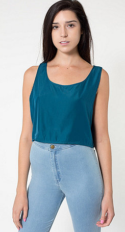 Teal Cropped \\ American Apparel