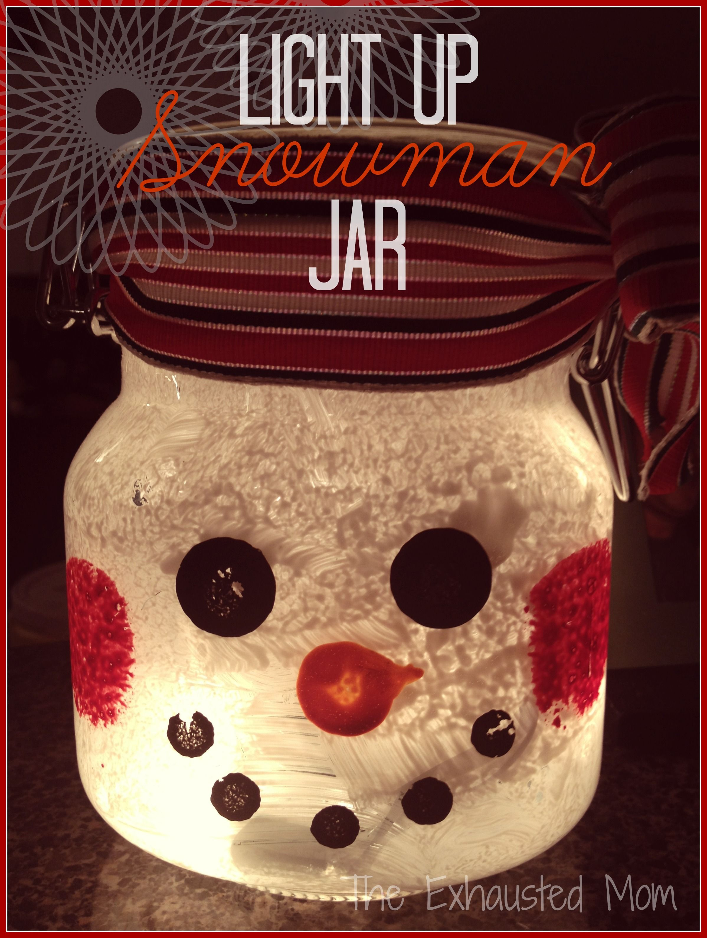 These easy DIY Light Up Christmas Jars are unique and adorable ...