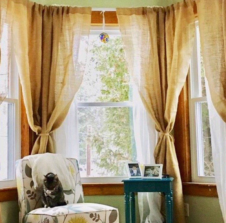 burlap drapes wanelo curtain curtains on shop natural inch window
