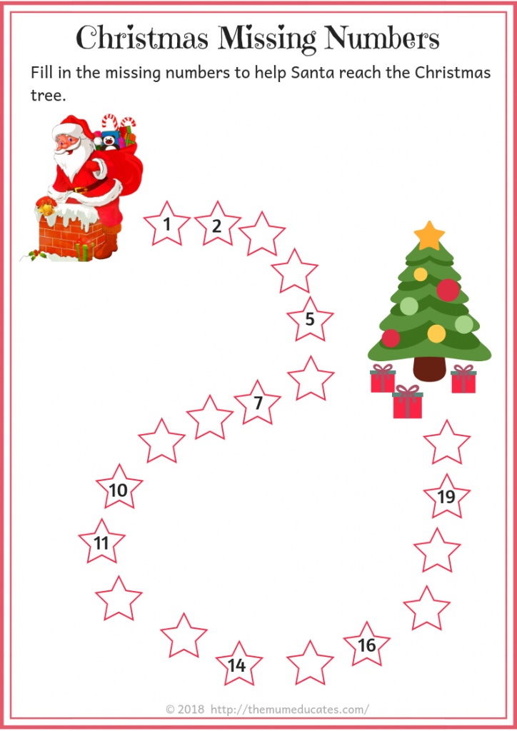 Pin By The Mum Educates On Year 1 Free Worksheets Christmas Worksheets Math Worksheet Christmas Themes