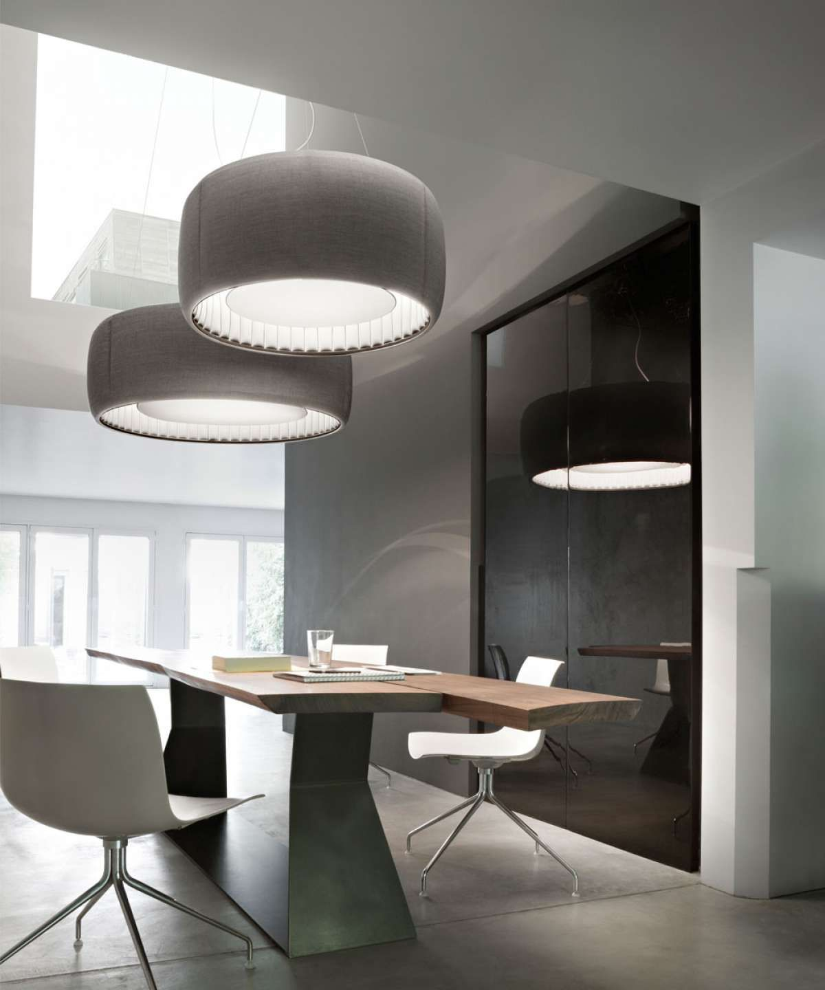Silenzio this family of suspension lamps designed by monica armani offer quality lighting combined with acoustic comfort and the beauty of kvadrat