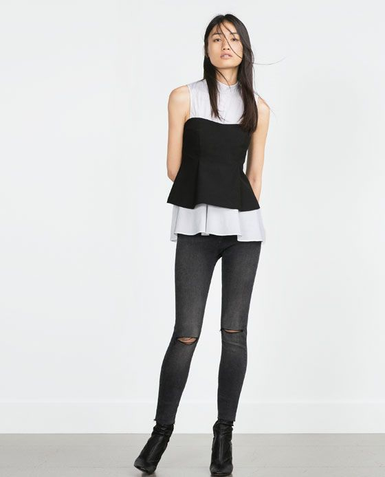 cc7137a1 ZARA - WOMAN - HIGH WAIST SKINNY JEANS. Find this Pin and more on ...