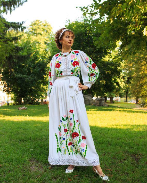 Boho Traditionnelle Ukrainienne Dentelle Mariage Bal Par