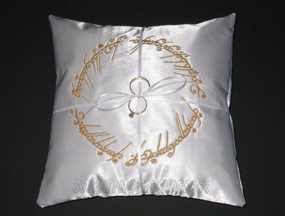 CUSTOMIZE Your RING BEARER Pillow with Embroidery Embroidered
