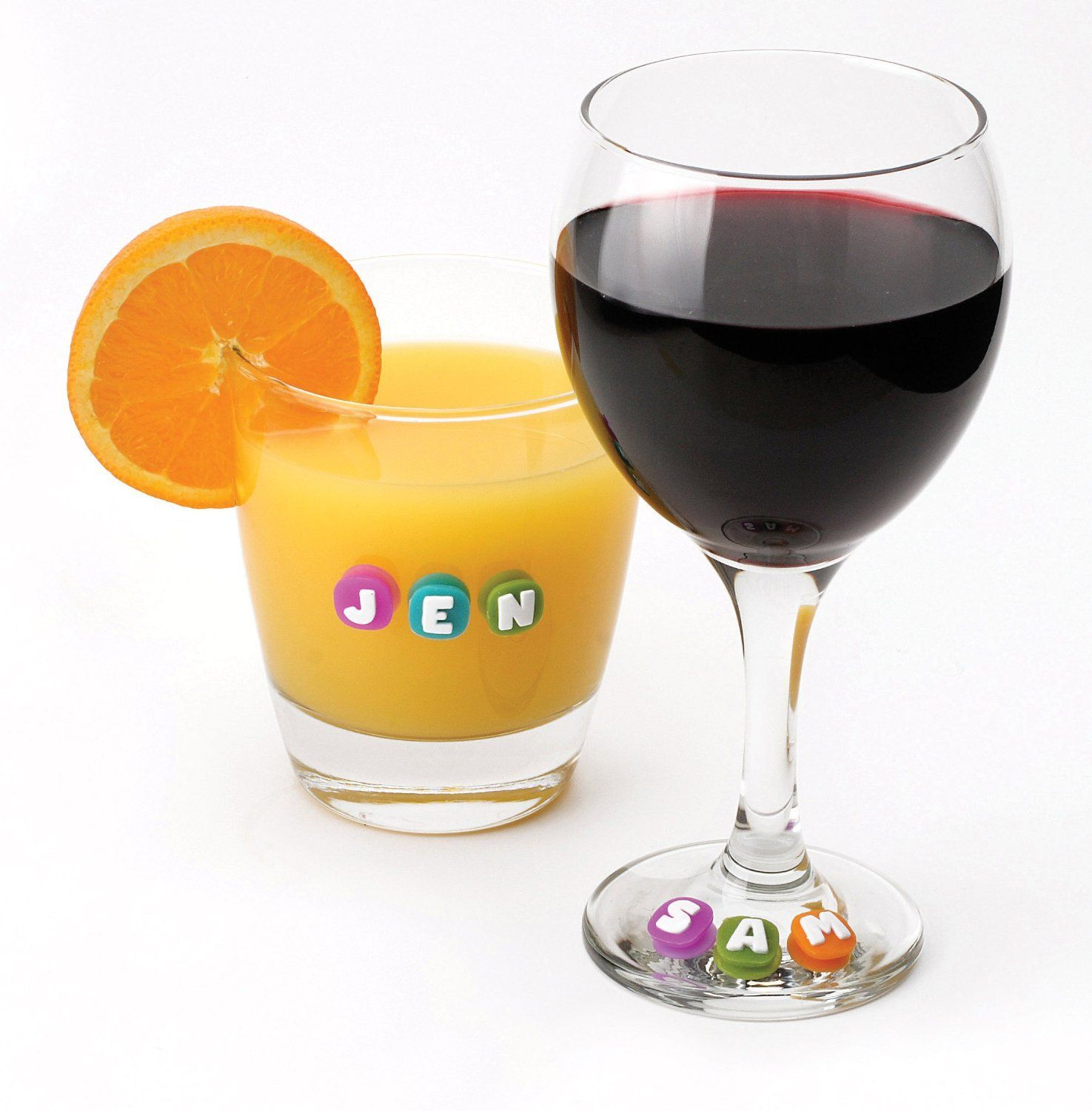 Amazon Com Msc 26737 Joie Fun Name Suction Drink And Wine Charm