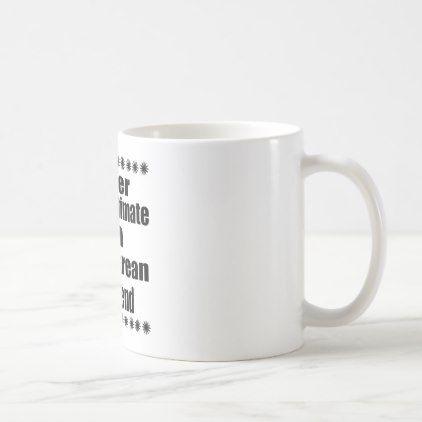 #Never Underestimate  Delawarean Boyfriend Coffee Mug - #drinkware #cool #special