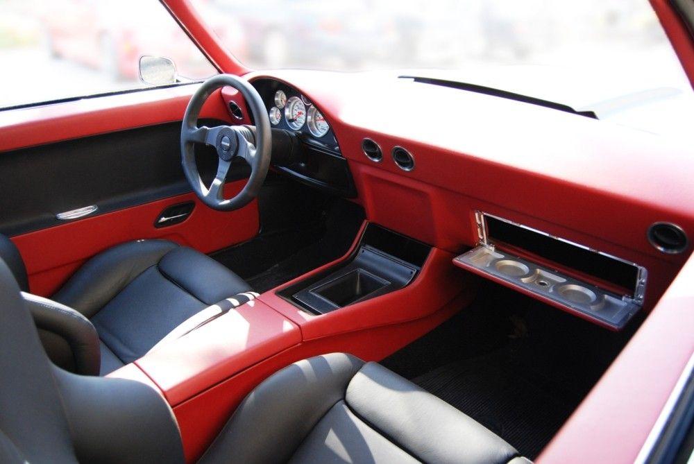 69 camaro becausess red black billet grey custom dash for Car interior door panel designs