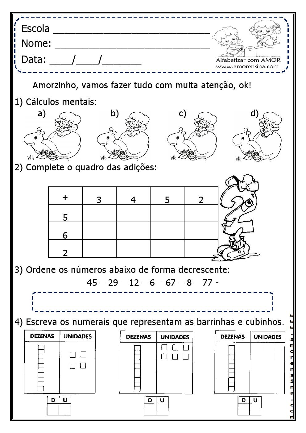 Atividades De Matemática 2º Ano Todas As Atividades Aqui Postadas