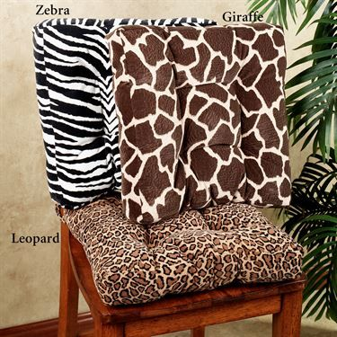 safari animal print velveteen chair cushions | beautiful decorative ...