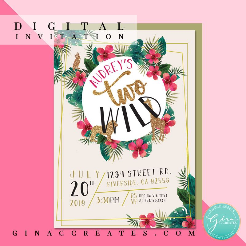 Two Wild Birthday Party Free SVG and Printable Wild
