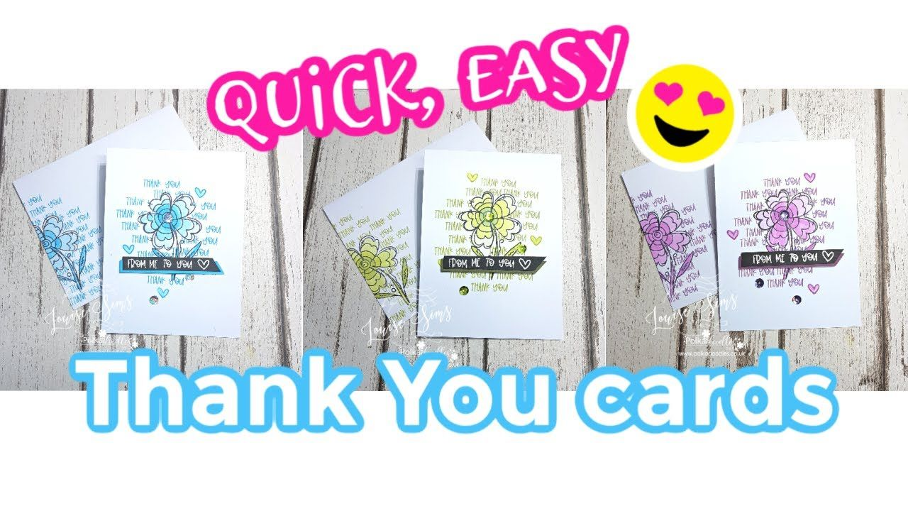 quick easy thank you card ideas using polkadoodles stamps