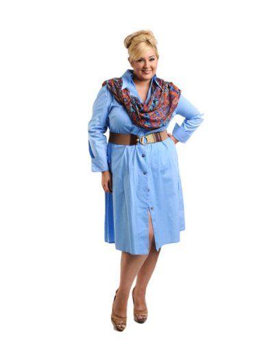 Fashion Bug Womens Plus Size Stretch Belted A-line Shirtdress www.fashionbug.us