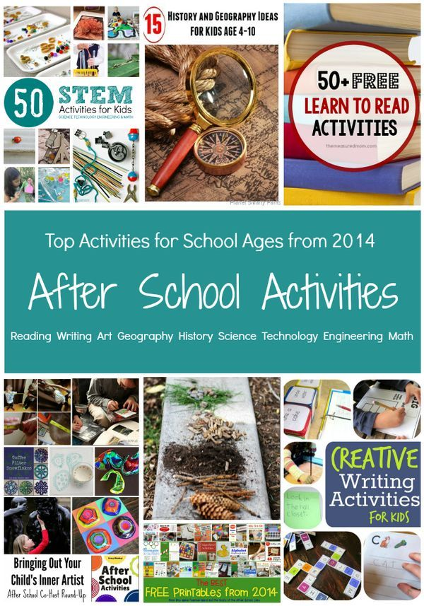 Top Activities from the After School Team in 2014 School