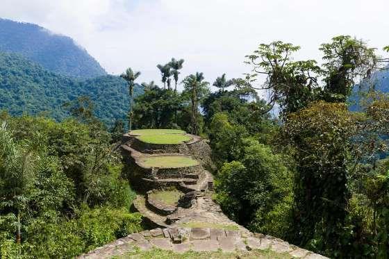 Este es un antiguo poblado construido por los indios tayronas en el siglo VIII en lo más profundo de... - Corbis. Texto: Lalo García