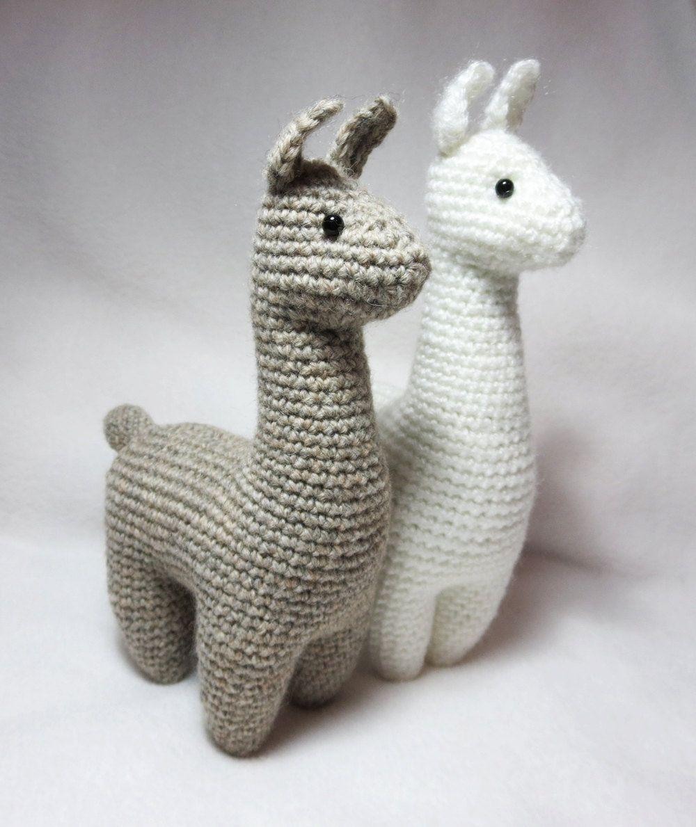 CROCHET PATTERN: Llama Amigurumi Plush | Nadel, Häckeln und Wolle
