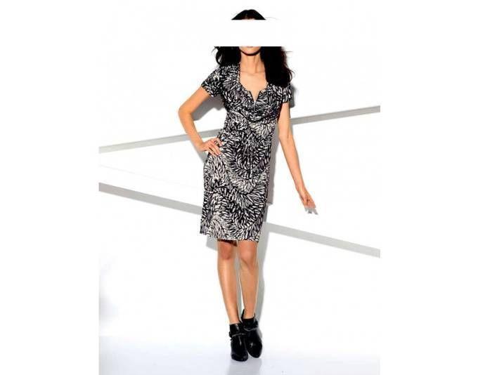 Patrizia Dini Damen Designer-Kleid, grau-creme Jetzt bestellen unter ...