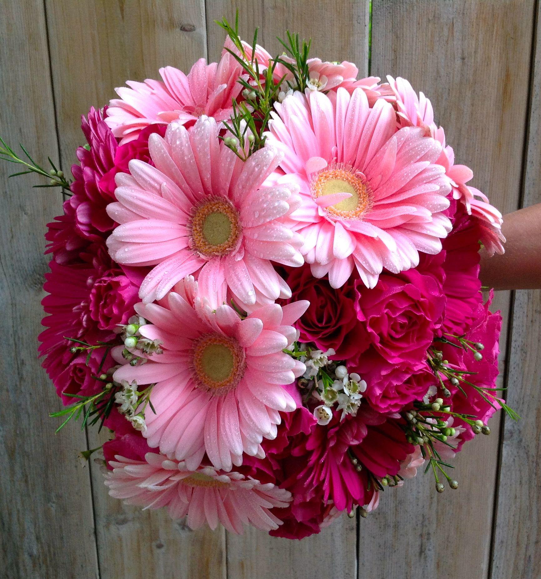 Gerbera Flower Wedding Bouquets: Daisy Gerbera Wedding Bouquet!