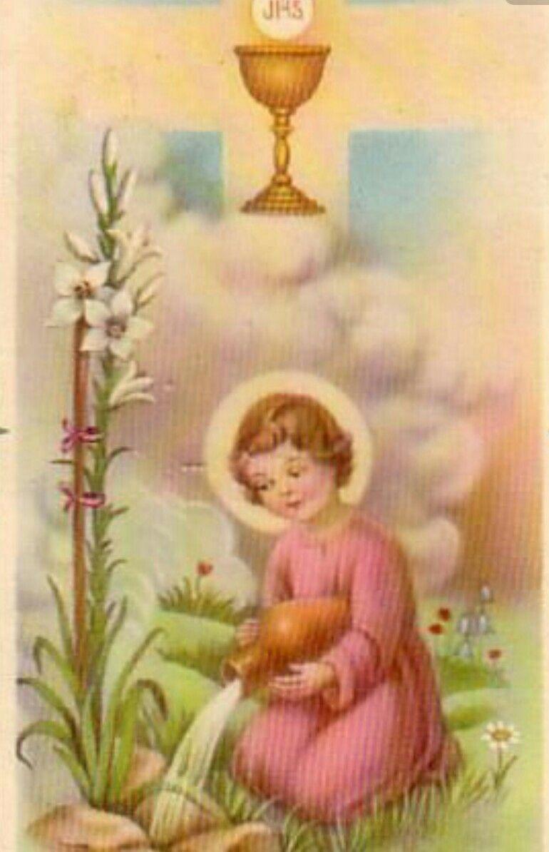 Pin De Cynthia Rodriguez Em Holy Cards Menino Jesus Eucaristia