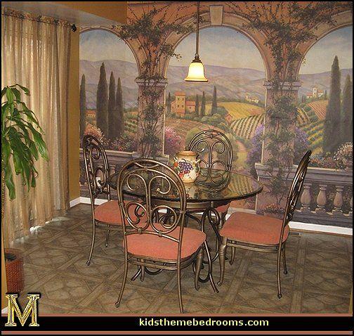 Tuscan Villa Wall Mural Decorating Mediterranean