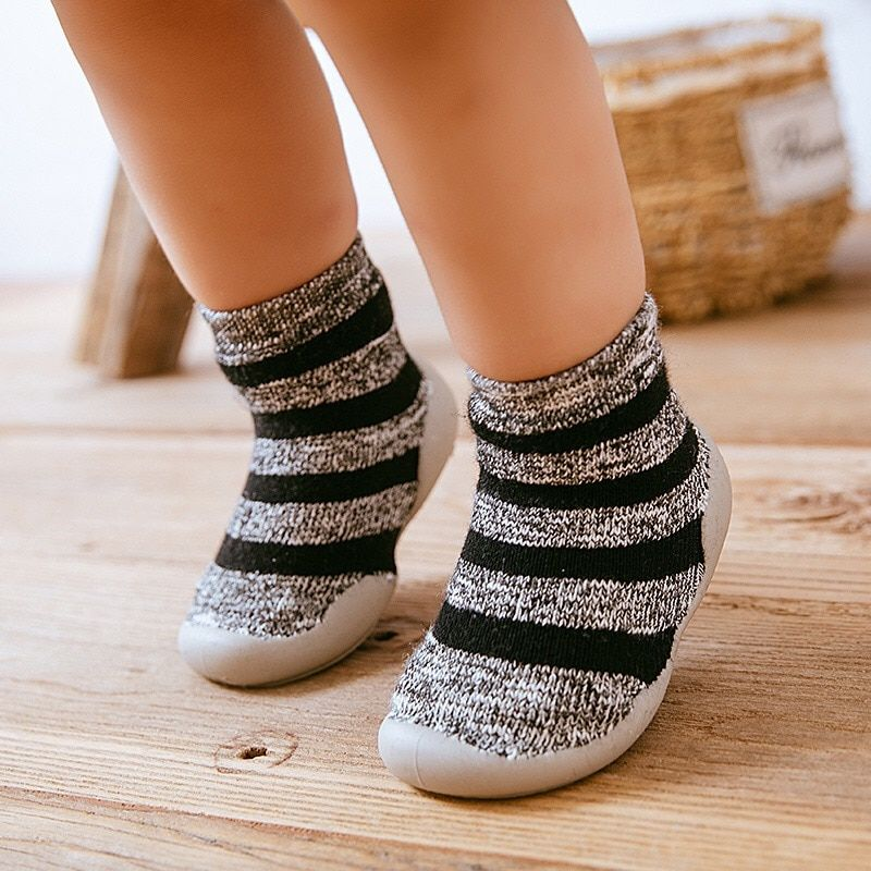 Newborn Baby Toddler Anti-slip Socks Shoes Breathable Knitted Rubber Soles