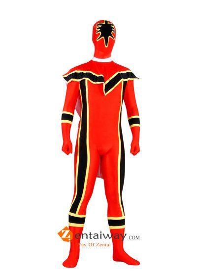 Spandex Power Ranger Superhero Costume