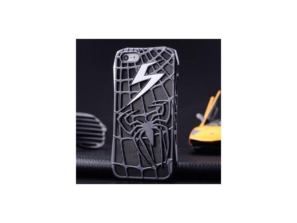 Spider-man kryt (obal) pre Iphone 5 5S - silver (strieborný)  af10ea91993