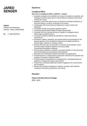 Compliance Officer Resume Sample Lawyer Still Sample resume