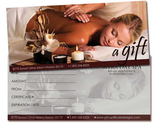 massage therapy gift certificate template - print your own gift certificates using easy templates